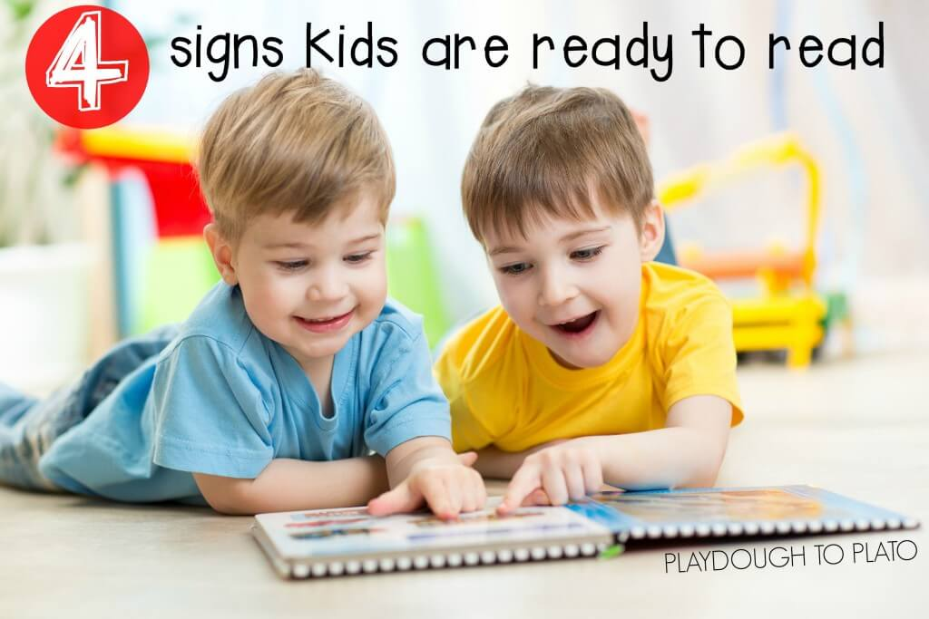 4 signs kids are ready to read. SO helpful to know what to look for!