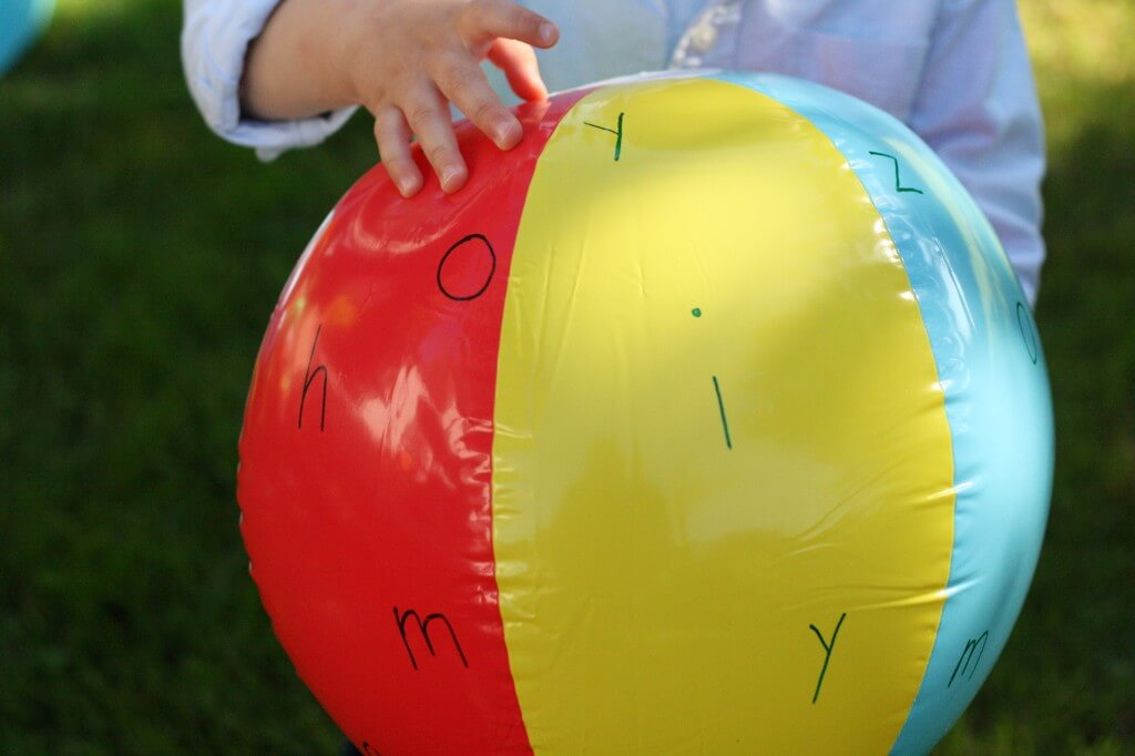Make Your Own Alphabet Ball {Playdough to Plato}