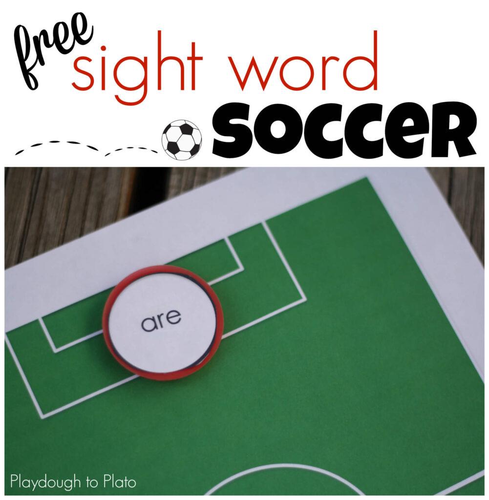 Free Sight Word Soccer. So cool! {Playdough to Plato}