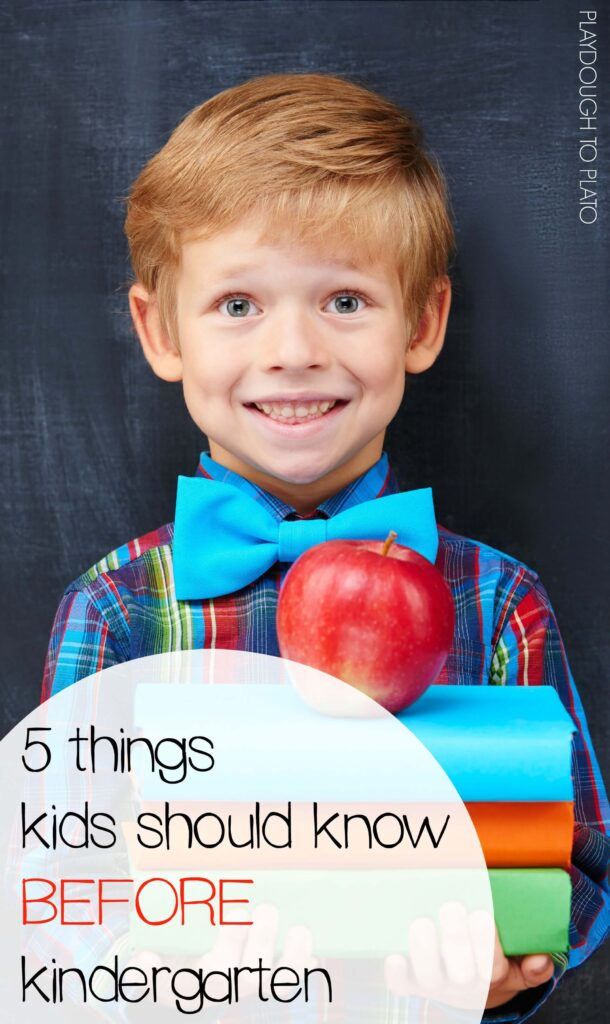 5 things kids should know before kindergarten
