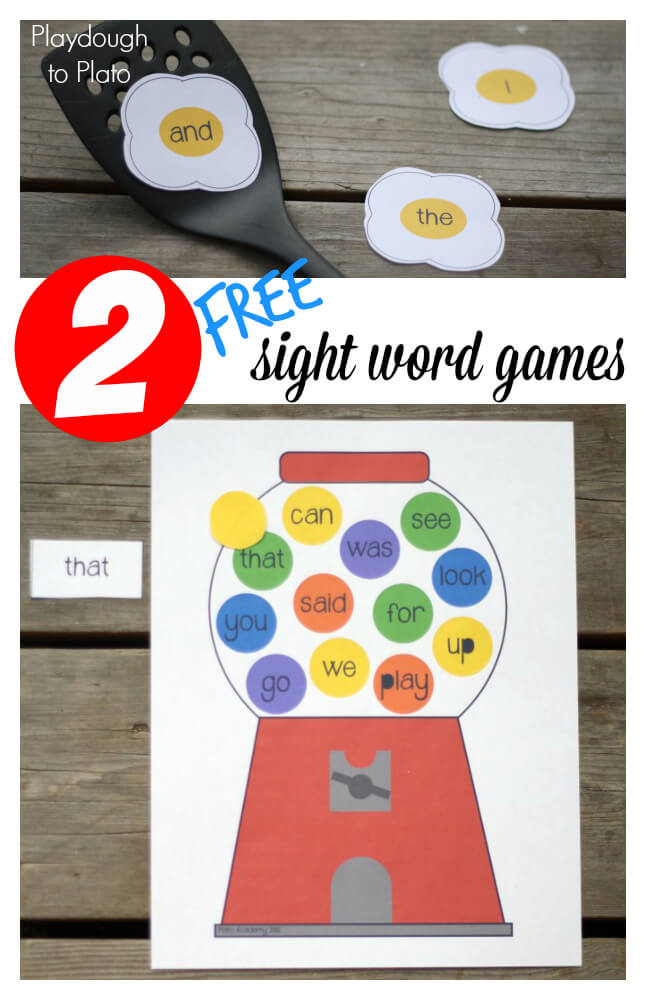 This is a photo of Shocking Free Printable Sight Word Games