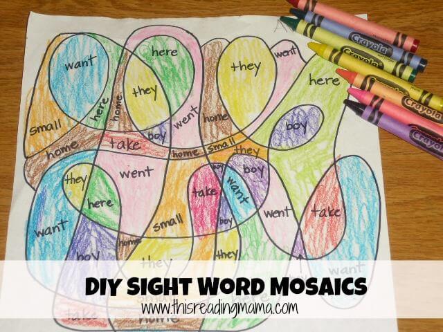 Sight Word Games: DIY Sight Word Mosaics