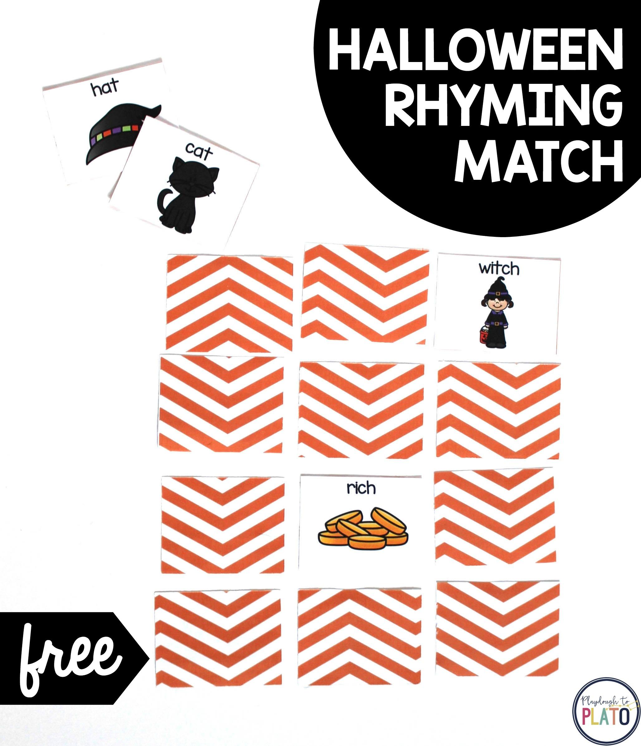 Halloween Rhyming Match Up!