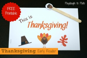 Thanksgiving Early Reader Freebie