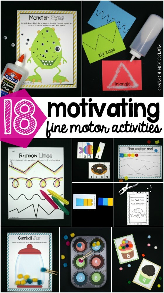 18 motivating fine motor activities for preschool and kindergarten!
