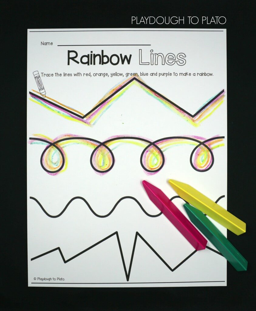Trace rainbow lines