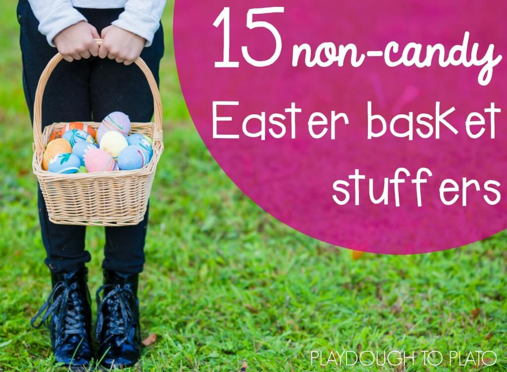 I love these non-candy Easter basket stuffers. Tons of creative ideas in the bunch!