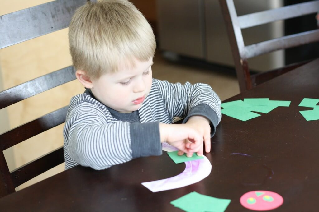 Easy, adorable follow up to The Very Hungry Caterpillar: C is for Caterpillar. {Playdough to Plato}