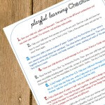 May's Playful Learning Checklist