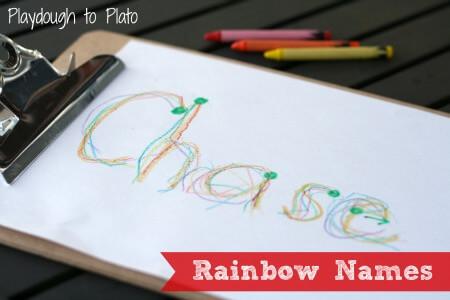 Rainbow Names {Playdough to Plato}