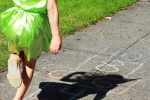 Skip Counting with Sidewalk Chalk