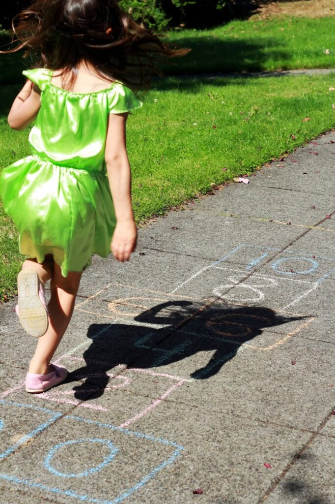 Skip Counting with Sidewalk Chalk {Playdough to Plato}