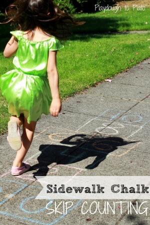 Skip Counting with Sidewalk Chalk