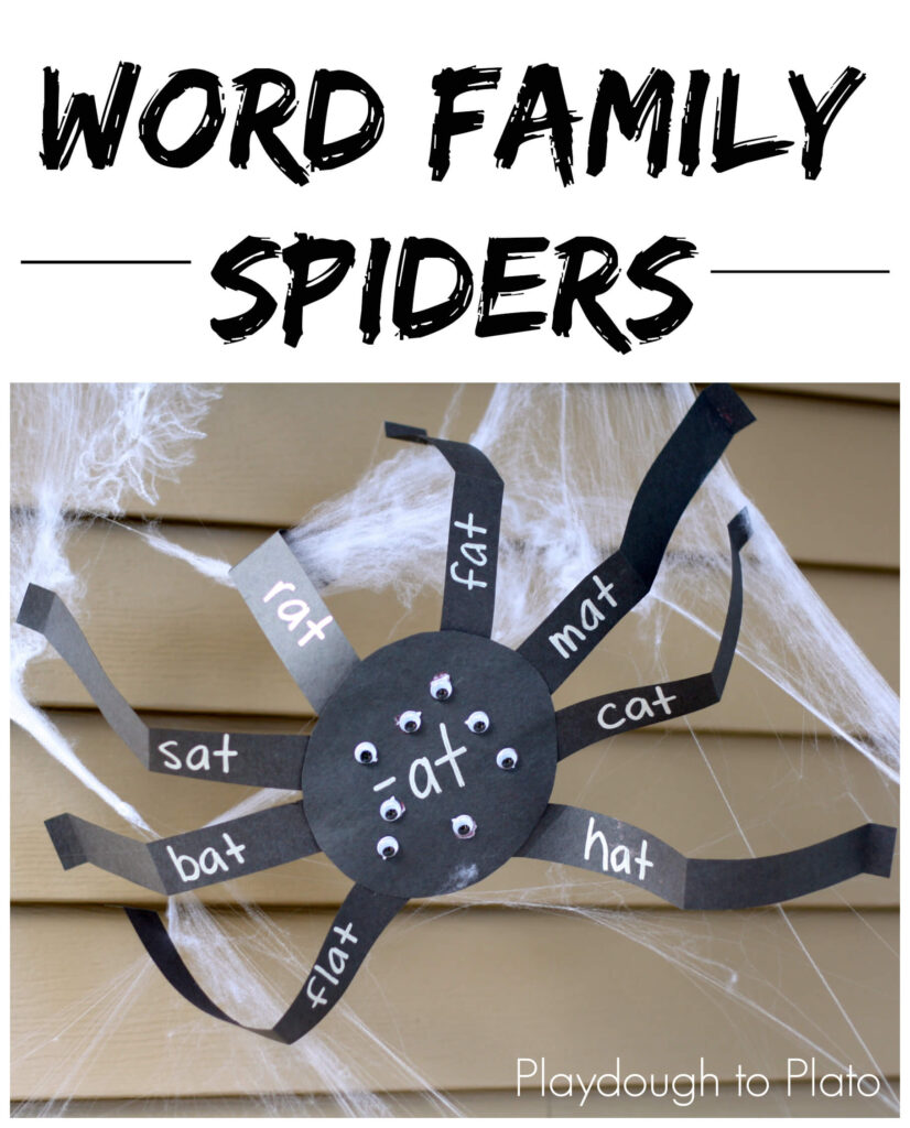 Word Family Spiders