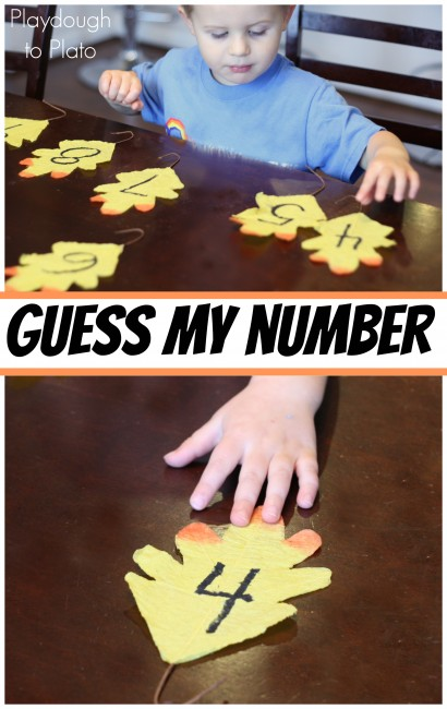 Guess My Number. Low prep, fun math game for preschoolers.