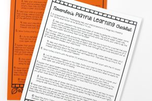 November's Playful Learning Checklist
