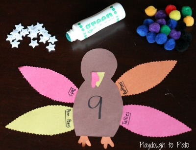Thanksgiving Number Activity: Turkey Four Ways {Playdough to Plato}