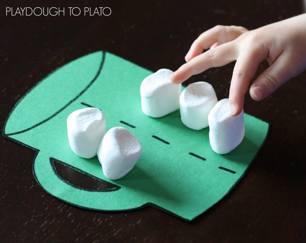 Great number game for kids. Perfect for winter!