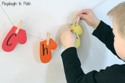 Simple name game for kids. {Playdough to Plato}