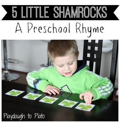 5 Little Shamrocks Rhyme