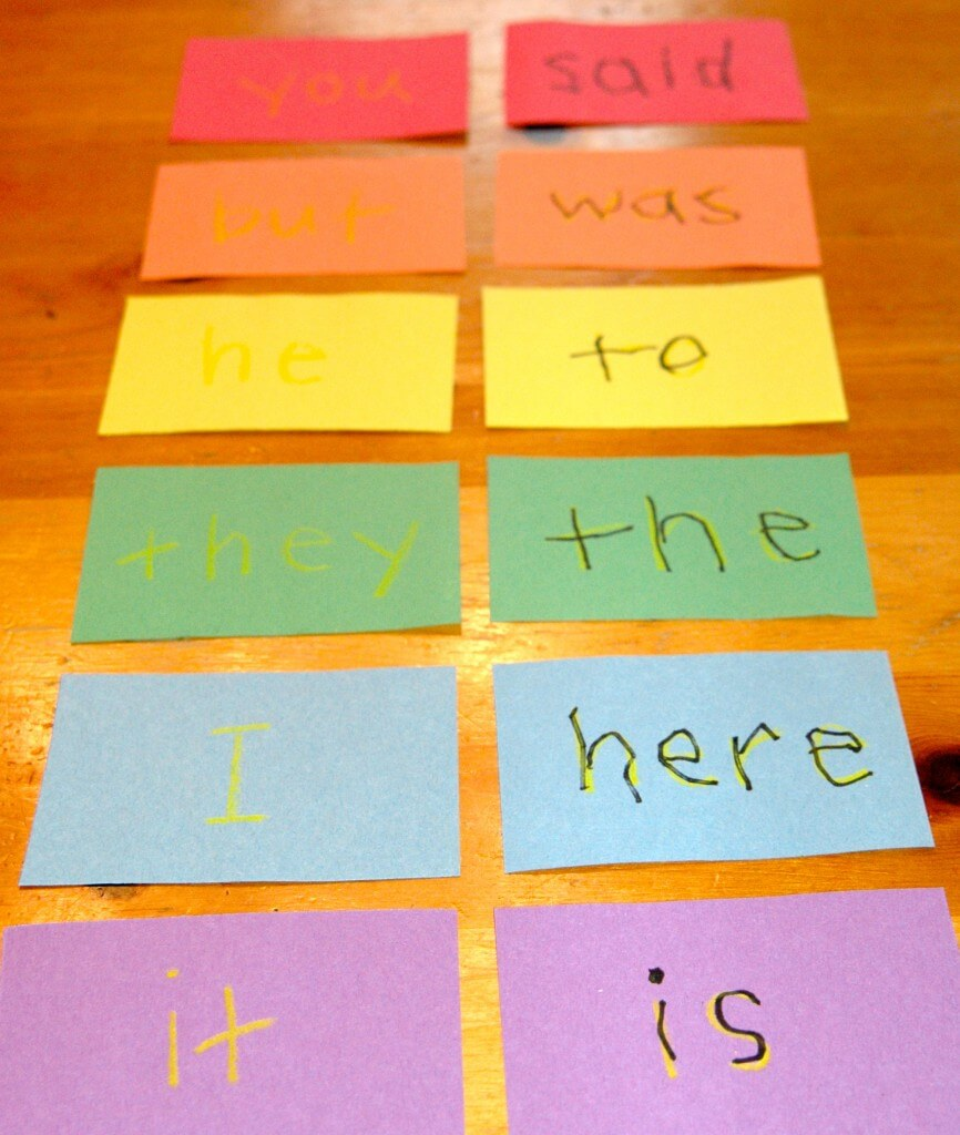 Rainbow Sight Words {Playdough to Plato}