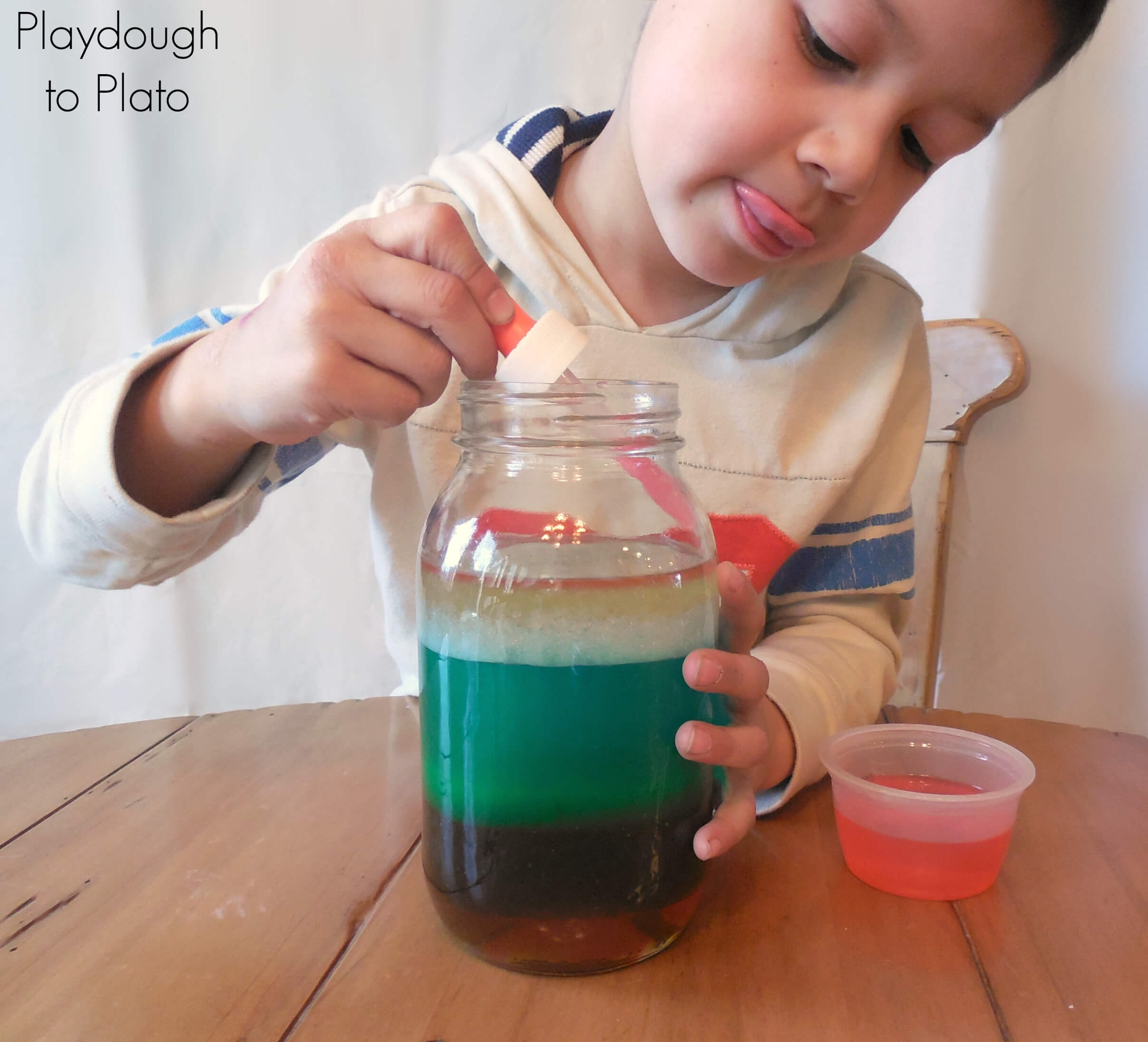 Rainbow Jar Playdough To Plato Stem On Pinterest Science Projects Fair And Stems How Make A In