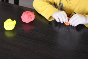 Color Mixing with Playdough