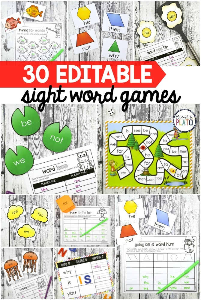 A Year of Sight Word Games