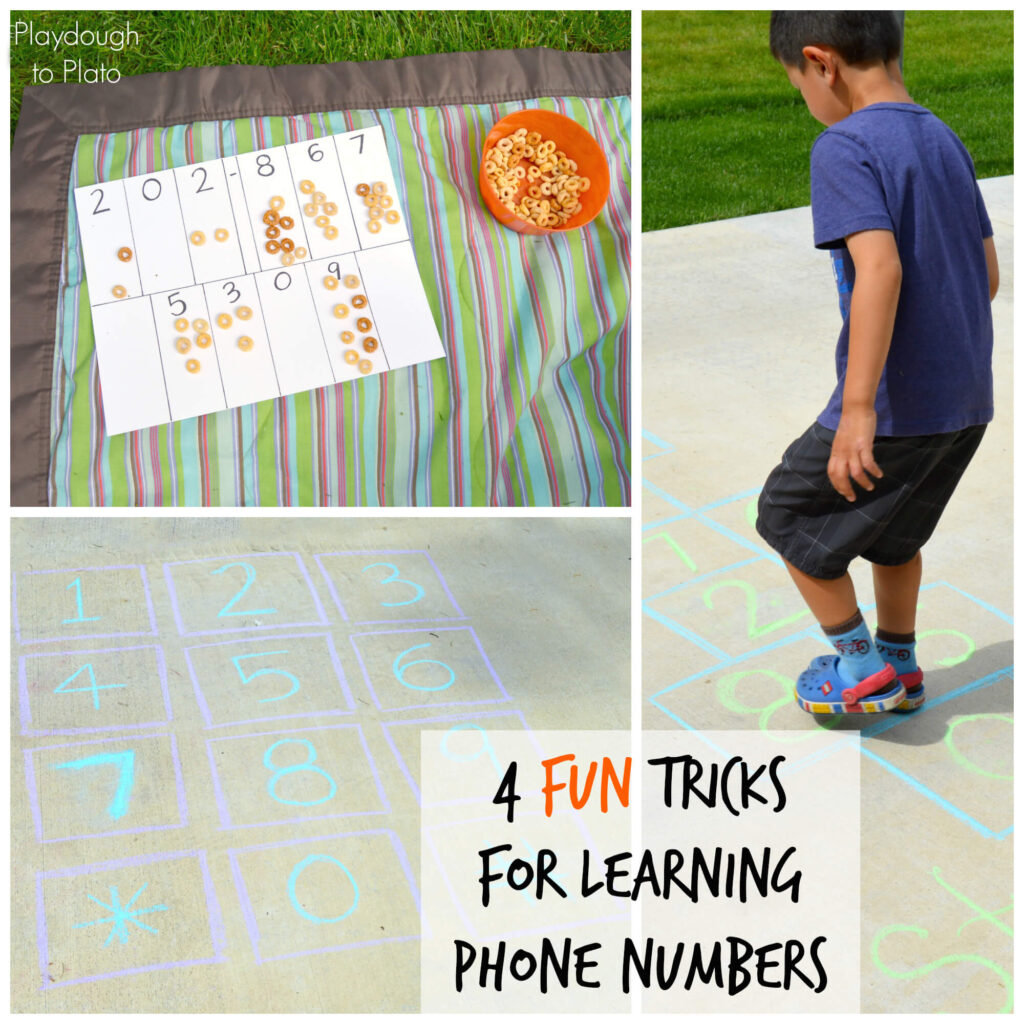 4 Super Fun Tricks for Learning Phone Numbers. {Playdough to Plato}.jpg
