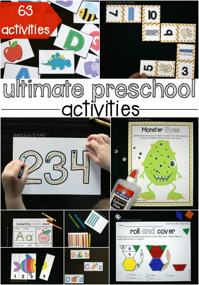 The ultimate preschool activities. ABC games, math activities and fine motor projects.