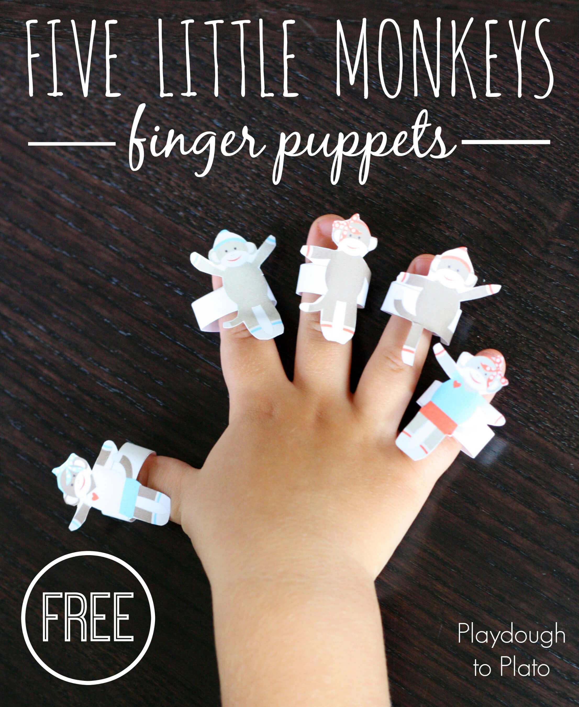Five Little Monkeys - Playdough To Plato