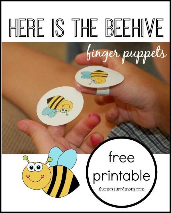Here is the Beehive Finger Puppets