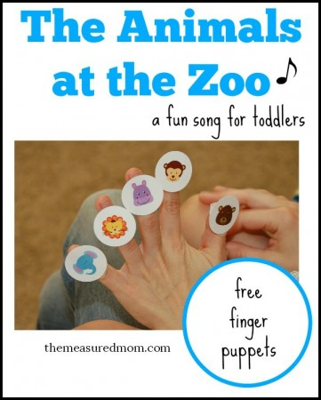 The Animals at the Zoo finger puppets