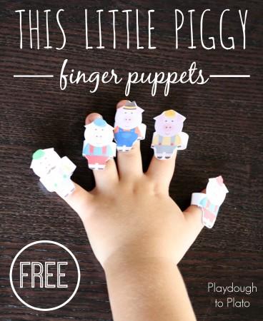 This Little Piggy Finger Puppets
