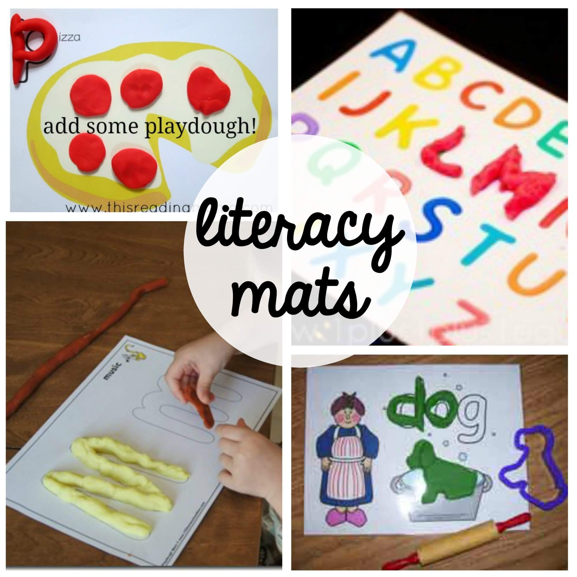 Tons Of Fun FREE Playdough Mats For Kids Great Way To Practice Reading