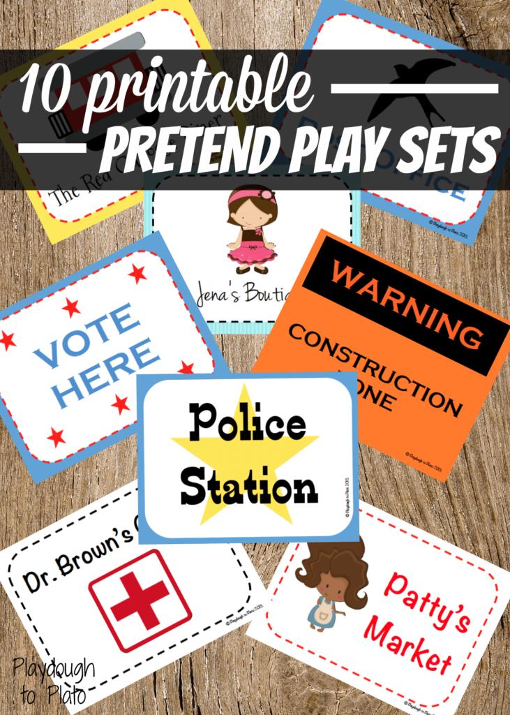 10 Printable Pretend Play Sets