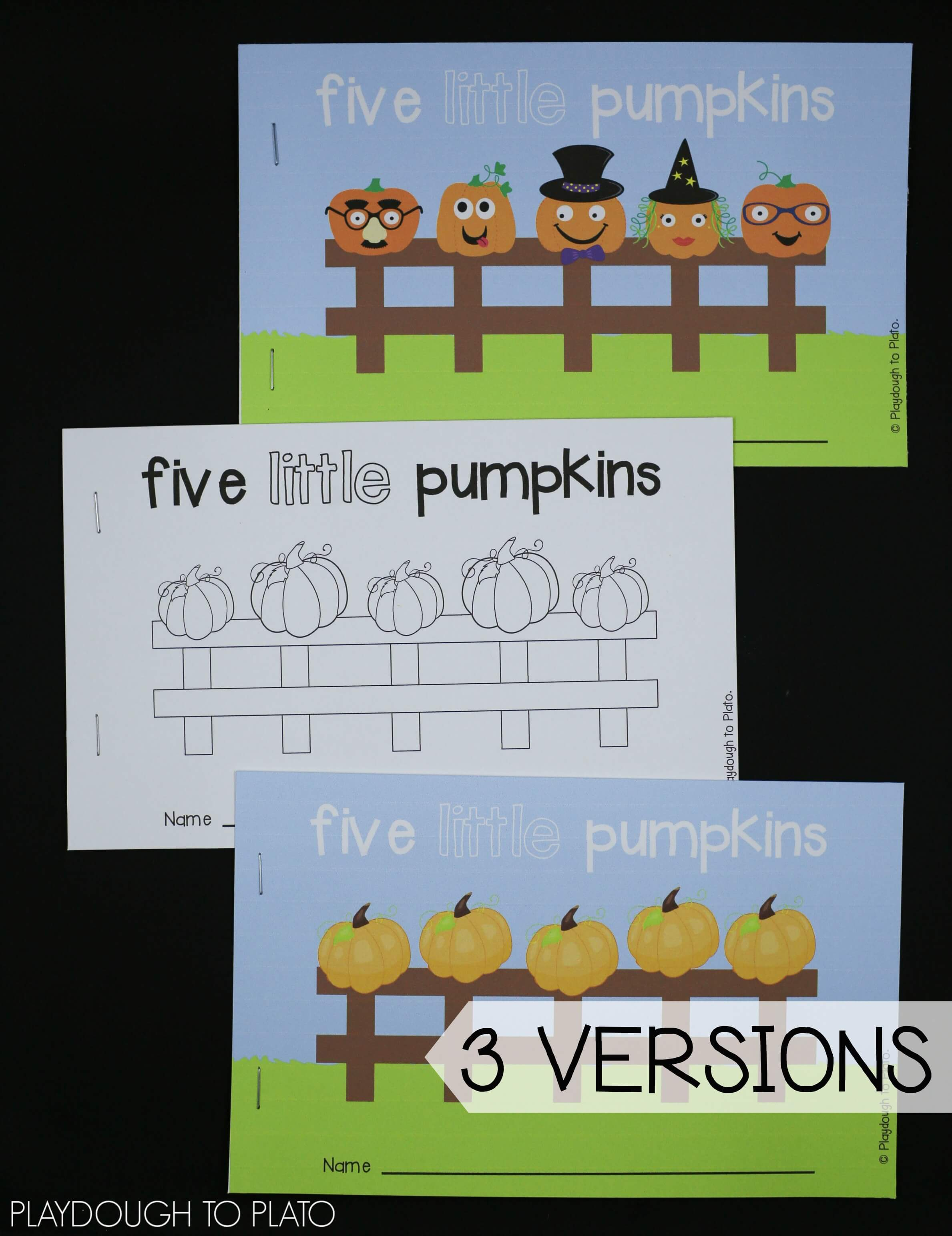 Pumpkin Activity Packet - Playdough To Plato