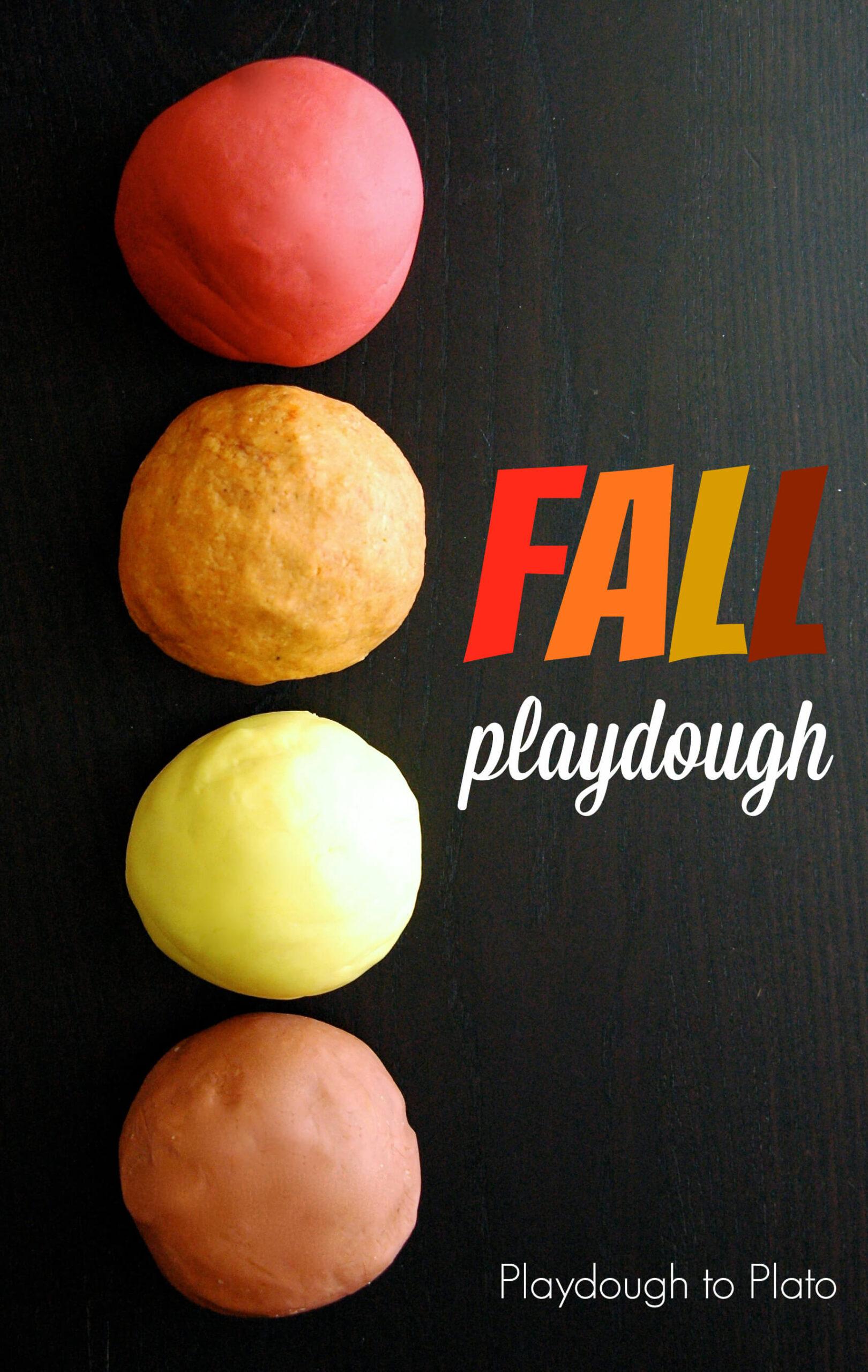 4 Playdough Recipes for Fall