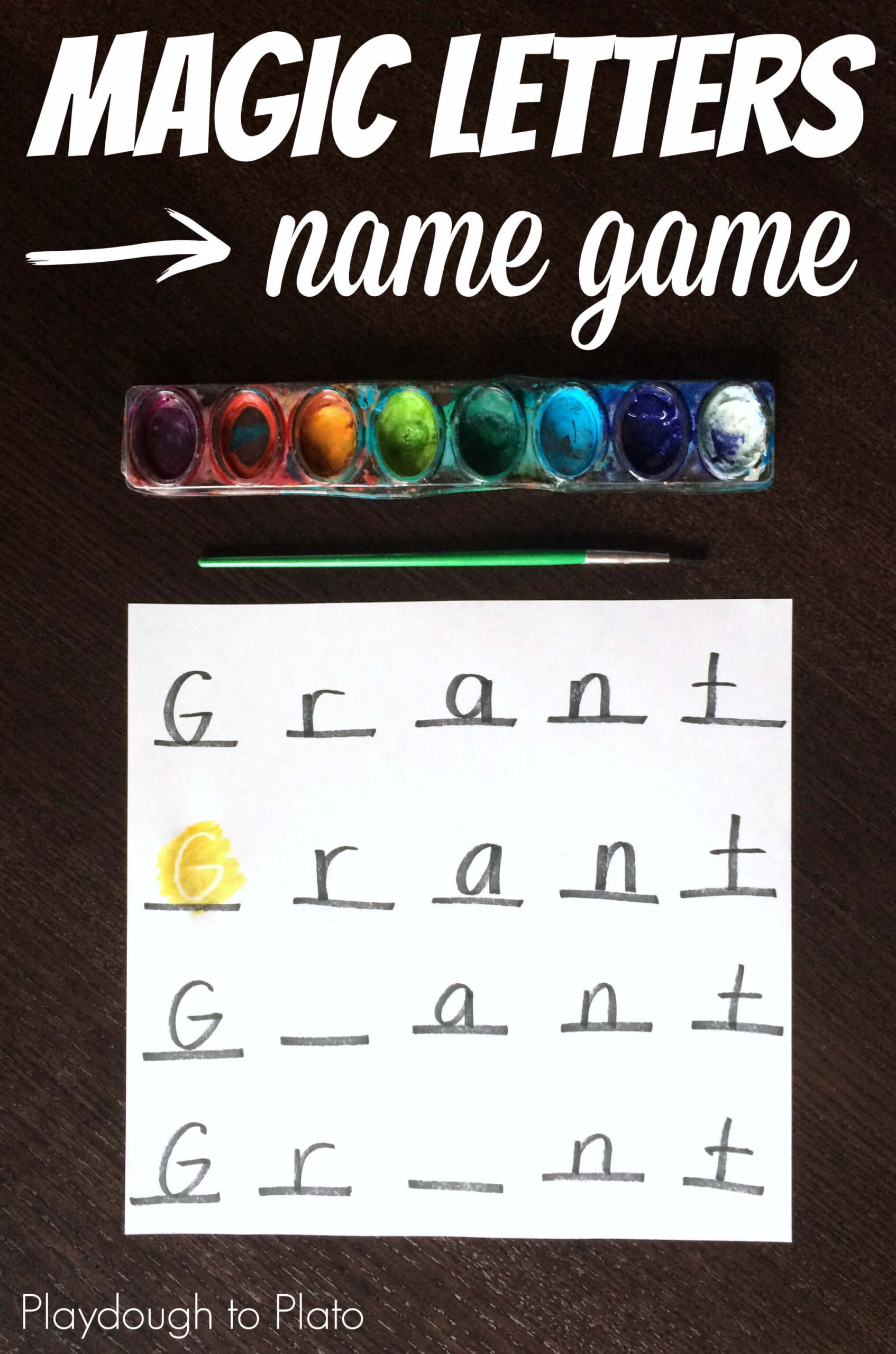 Magic Letters Name Game