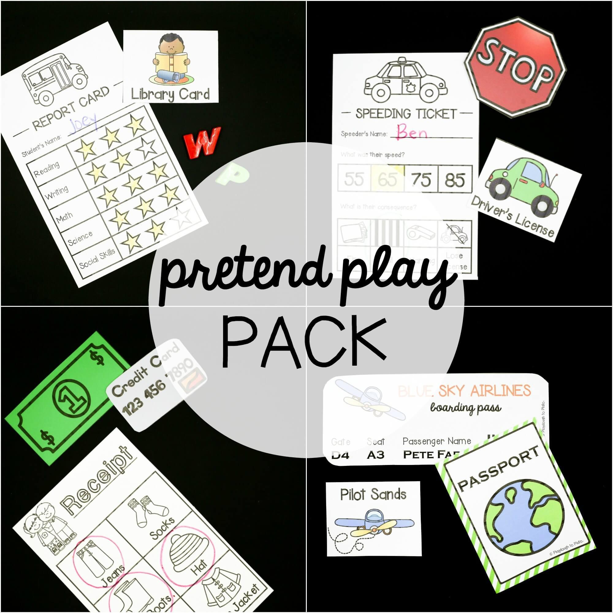 EDITABLE Pretend Play Sets
