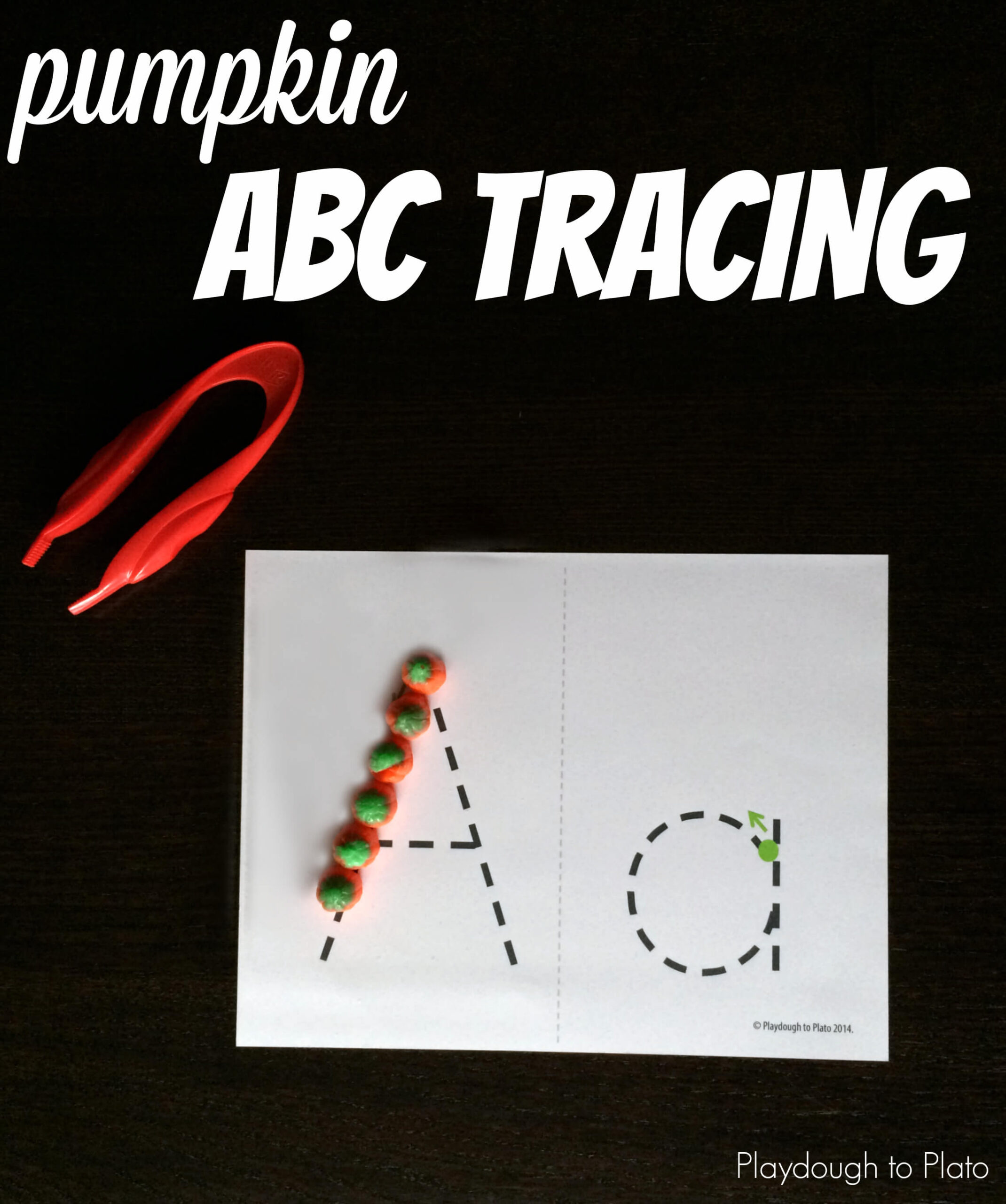 Pumpkin ABC Tracing