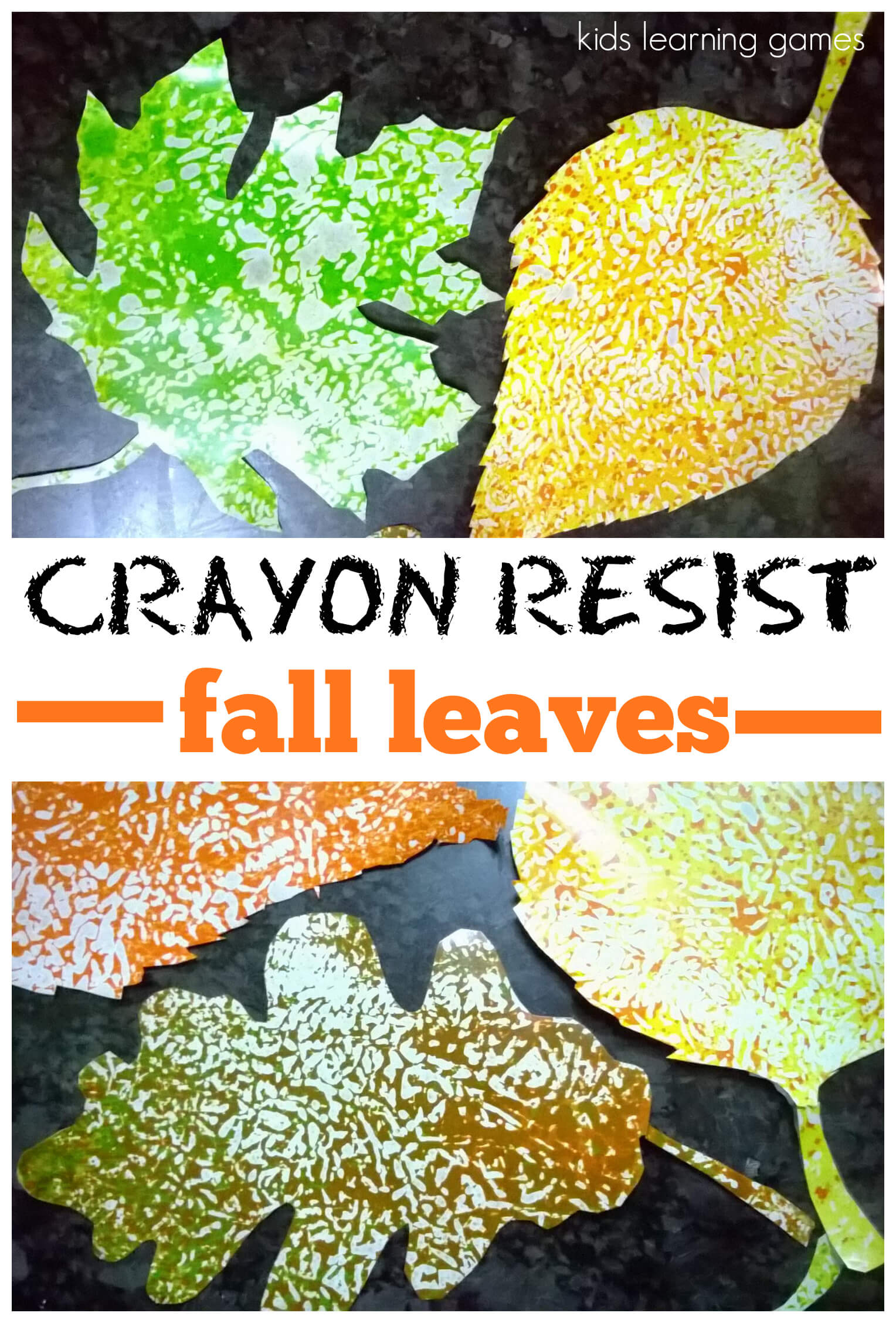 Fall Craft for Kids: Wax Paper Resist Leaves