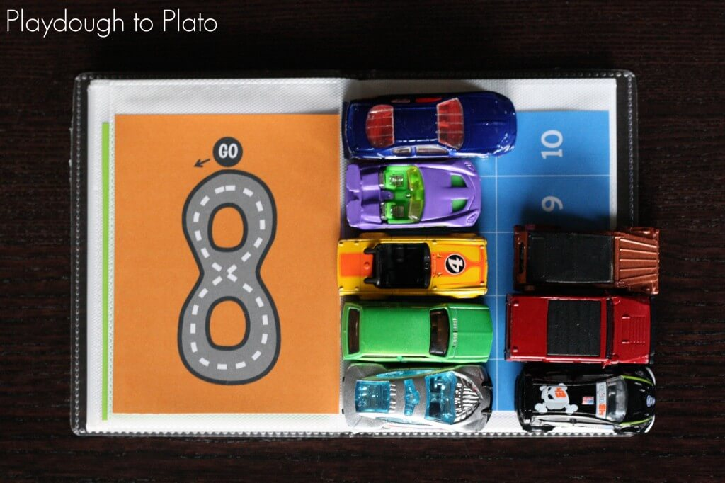 FREE Printable Number Tracing and Counting Car Book