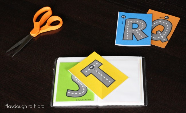 Free Printable Letter Tracing Roads