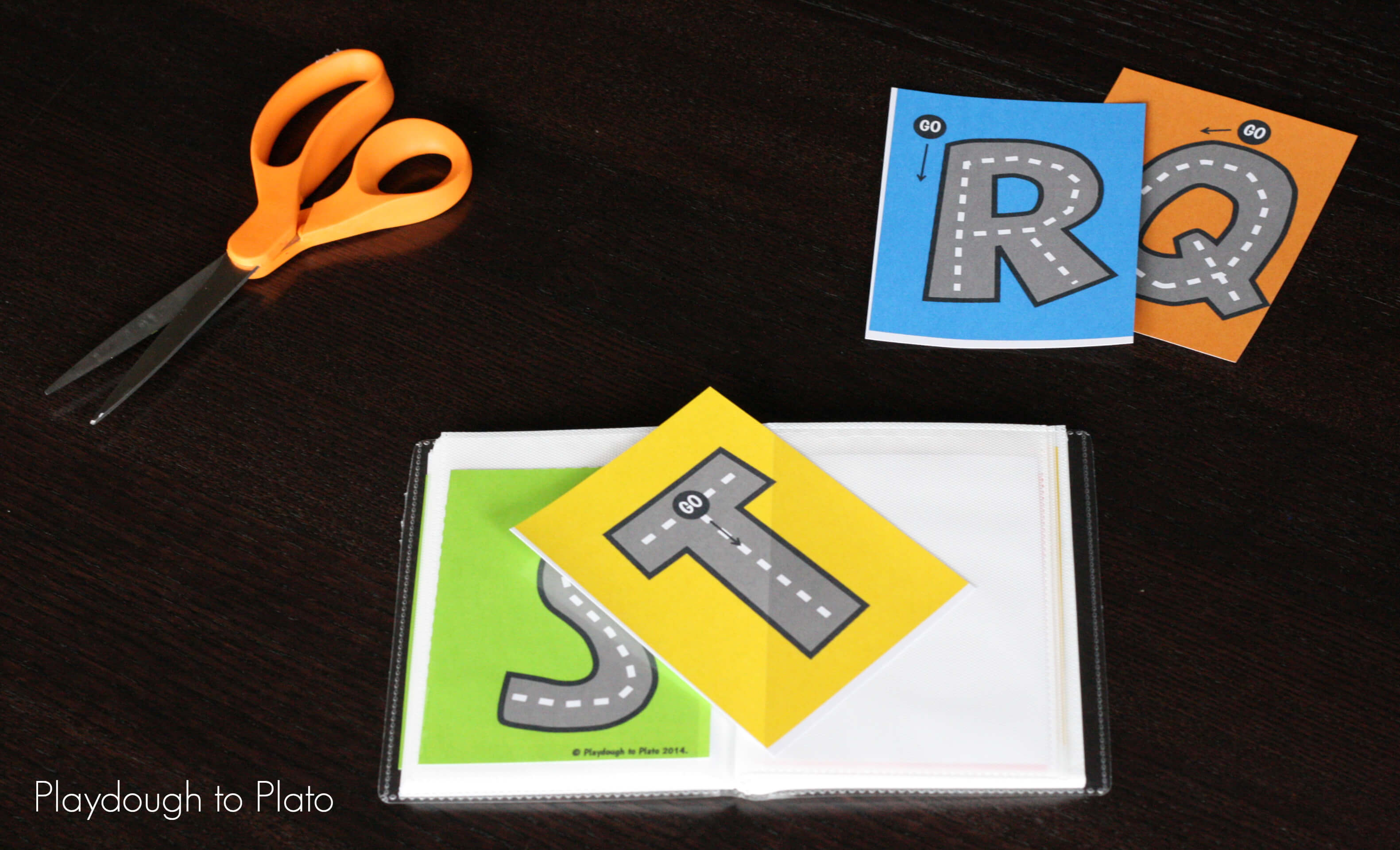 Free Letter Tracing Roads Playdough To Plato