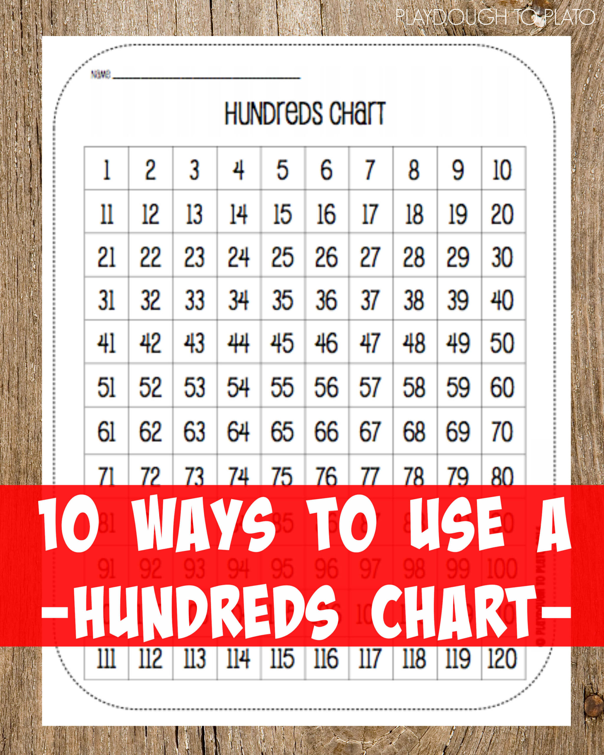Free Hundred Chart and 10 Ways to Use It