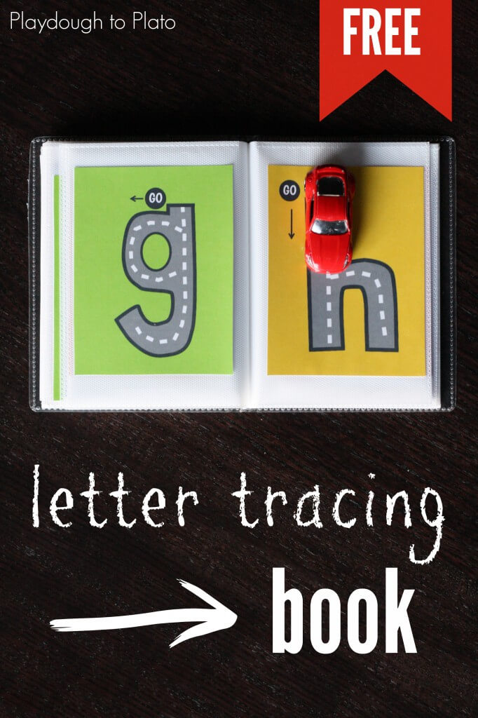 Awesome lowercase letter tracing book! {Playdough to Plato}
