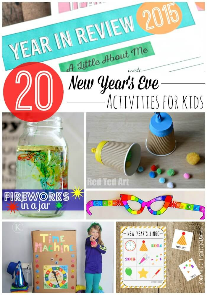 20 New Year's Eve Activities for Kids!