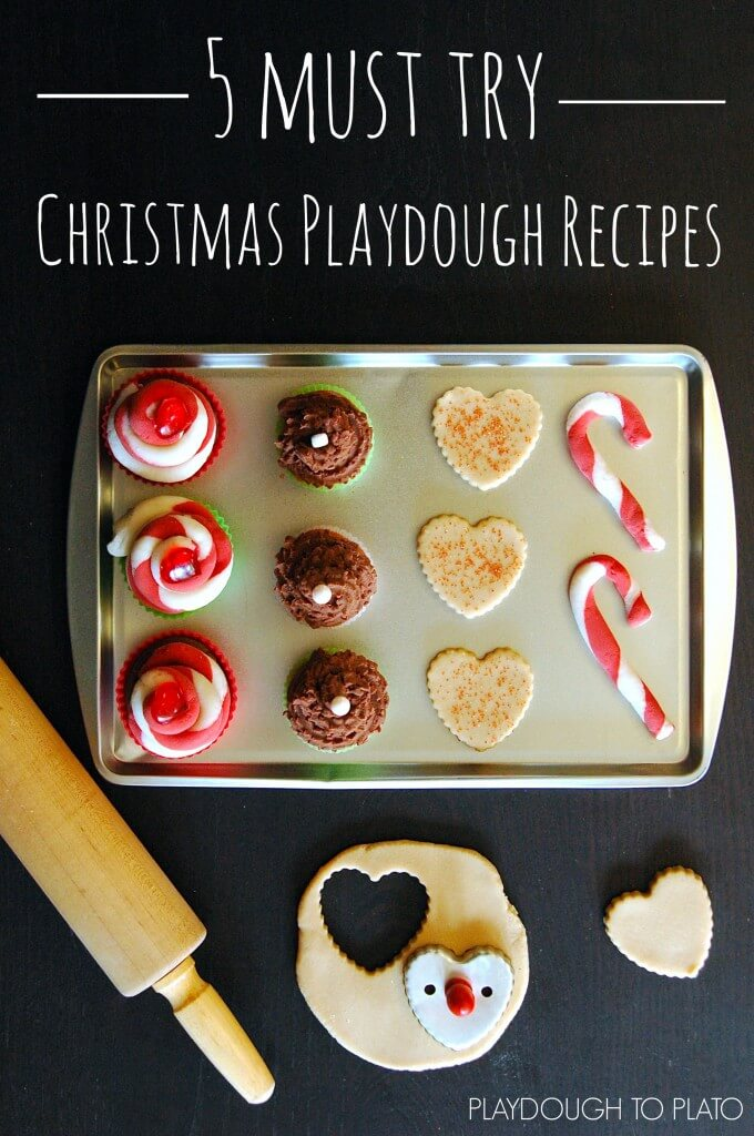 5 Must Try Christmas Playdough Recipes!! {Playdough to Plato}