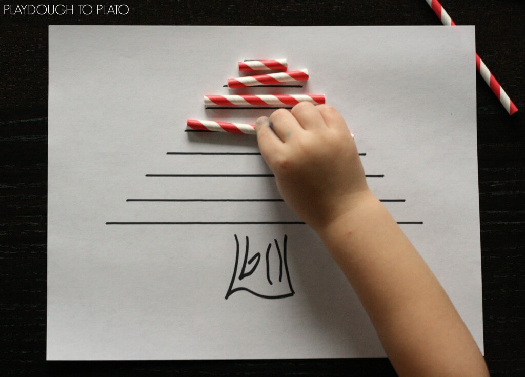 Fun preschool math activity for Christmas.
